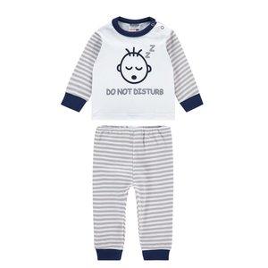 Baby pyjama Do not disturb Blauw/Grijs