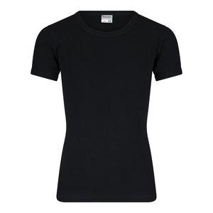 Jongens T-shirt met ronde hals M3000 Zwart