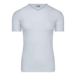 Heren T-shirt met V-hals M3000 Wit